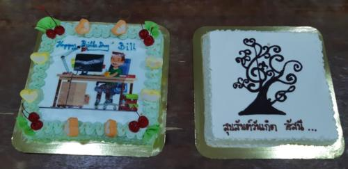 Cakes for Asanee and Bill.
