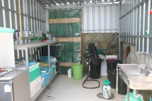 S2S Hydroponic garden storage area.