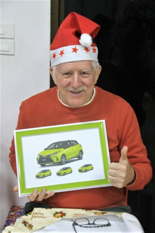 A special gift from Baw & Asanee – Bill's new car!