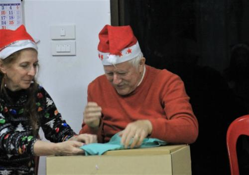 She wrapped his gift really well!