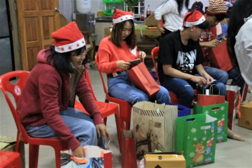 Opening the gifts.  The best time of the night!