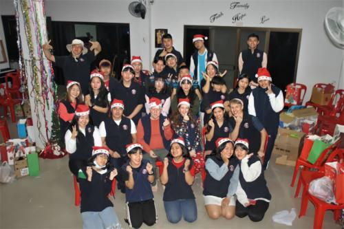Mountains Christian College gave warm uniform vests – perfect for winter!