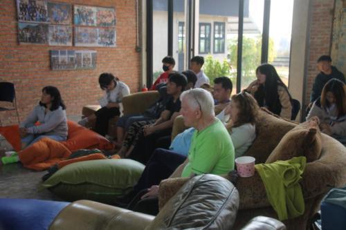 Everyone is focused on the teaching!